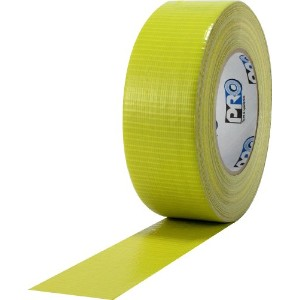 ProTapes Pro Duct 110 PE-Coated Cloth General Purpose Duct Tape, 60 yds Length x 2 Width, Yellow ...
