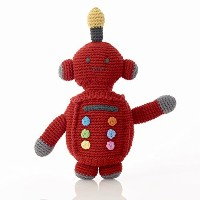 Pebbleフェアトレード、Hand Made Rattle – レッドロボットTin