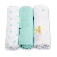 lulujo Dreamland Baby 3-Count Mini Muslin Cloths, 28 x 28 by lulujo Baby