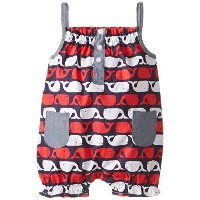 Mud PieベビーGirls ' Whale Romper by Mud Pie