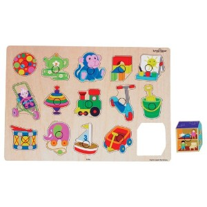 Small World Toys Ryan's Room Wooden Puzzle - Playboard [並行輸入品]