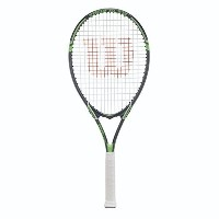 輸入品 テニスラケットWilson Tour Slam Strung Tennis Racquet, 4 1/2-Inch, Black/Green [並行輸入品]