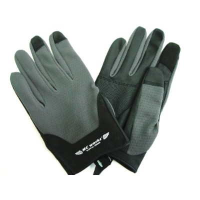 MC works'/MCワークス ライトグローブ(LIGHT GLOVE) (GREY&BLACK, M)