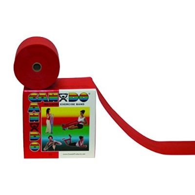 CanDo? Latex Free Exercise Band - 4' length - Red - light