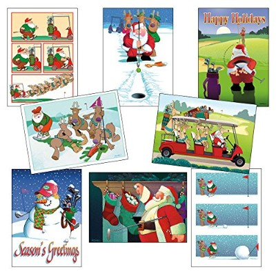 Golf Christmas Card Variety Pack 24 Cards & Envelopes by Stonehouse Collection