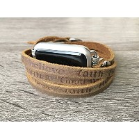 Artisan Brown Leather Bracelet For Apple Watch Series 1 2 & 3 (38mm Size) Handmade Multi Wrap Band...