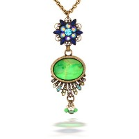 La Contessa Jeweled Flowerグリーンストーンネックレス、Designed by Mary DeMarcoと精選by the Artaziaコレクション – n8871