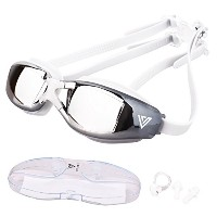 vitcheloアンチフォグユースの水泳ゴーグル大人用メンズレディース。Leakproof Competitive Mirrored Swim Goggles Best for Open Water...