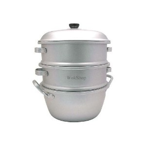 12 inch 3-Tier Aluminum Steamer by Wok Shop