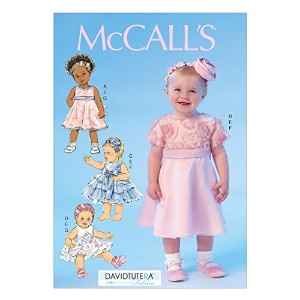 McCall Pattern Company M7037 Infants' Dresses, Panties and Headbands Sewing Template, YA5 by McCall...