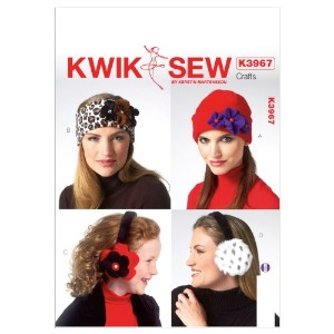 Kwik Sew Patterns K3967 Adult and Children Hats and Ear Muffs Sewing Template, All Sizes by KWIK...