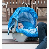 Carseat Canopy 5 Pc Whole Caboodle (Noa) Baby Infant Car Seat Cover Kit with Minky Fabric by...