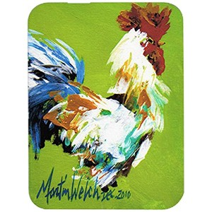 Caroline's Treasures MW1188LCB Boss Rooster Glass Cutting Board, Large, Multicolor [並行輸入品]