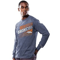 Denver Broncos Shed Blockers長袖Teeシャツby Majestic XL ブルー