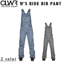 COLOUR WEAR 17-18 W'S RIDE BIB PANT カラーウェア CLWR S DENIM_BLUE
