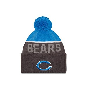 Chicago Bears New Era 2015 NFL Sideline Sport Knit Hat Chapeau - Blue/Graphite