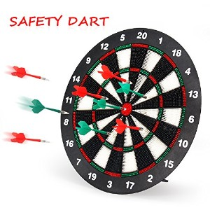 geekperソフトTip Darts and Dart Board Set–レジャースポーツfor Kids and Office