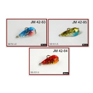 Akuna Pack of 3 Monsoon 1.3 inch Spoon Fishing Lure [JM-3-FLC-42-B] [並行輸入品]