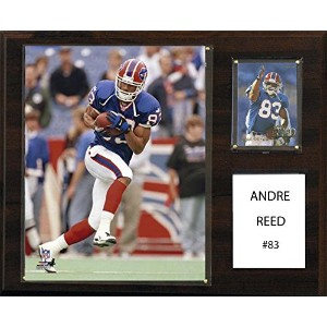 NFL Buffalo Bills Andre Reed 12x 15インチPlayer Plaque