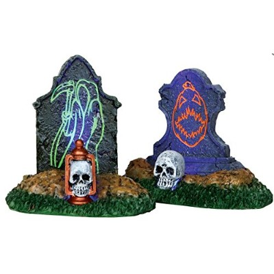 Lemax Spooky TownバックライトTombstones ( Set of 2) # 24467