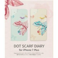 その他 Happymori iPhone7 Plus Dot Scarf Diary ピンクスカーフ ds-1941721