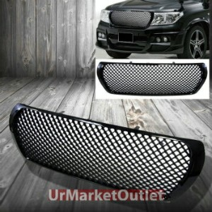 トヨタ ランクル グリル Front Black Off Road Meshed Bumper Grill Grille for Toyota 08-09 Land Cruiser...