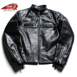 No.IM80493 ALLSTATE × INDIAN MOTORCYCLEHORSE HIDESINGLE RIDERS JACKET