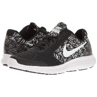 (ナイキ) NIKE キッズランニングシューズ・・スニーカー・靴 Revolution 3 Print (Big Kid) Black/White/Lava Glow 4 Big Kid 22cm...