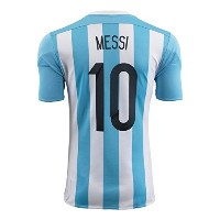 Adidas Messi #10 Argentina Home Soccer Jersey 2015 YOUTH(Authentic name and number of player)...