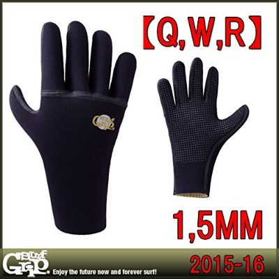 SURF GRIP WINTER サーフグリップ Q.W.R 5FINGER GLOVE グローブ 1.5mm (XL)