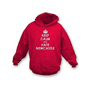 Keep Calm And Hate Newcastle フード付きトレーナー (Sunderland)
