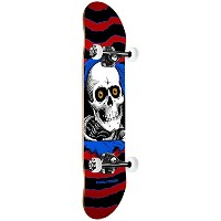 【POWELL PERALTA】パウエル Ripper One Off Red Assembly 7.5 x 28.65 スケートボード キッズ ジュニア コンプリートデッキ 子供用 スケボー 板