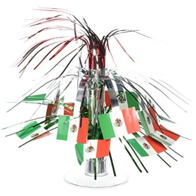Beistle 50106 Mexican Flag 71 /2インチCascade Centerpiece、Mini One size fits most マルチカラー 50106