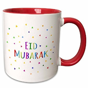 InspirationzStore – Eid Mubarak – Happy Eid Blessing後Ramadan Islamicイスラム教徒Holidays – マグカップ 11-oz Two-Tone Red Mug mug_202078_5