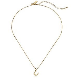 "Kate Spade New York Horseshoe Pendant Necklace , 17 "" + 3 "" Extender"
