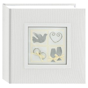 Pioneer Photo Albums 100-Pocket Fabric Cover with Framed 3D Wedding Embellishments Album for 4 by 6...