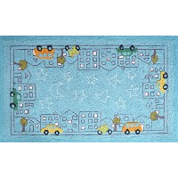 The Rug Market Cityscape and Cars Children's Area Rug, 2.8' X 4.8 by The Rug Market