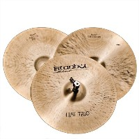 Istanbul Mehmet Cymbals Traditional Series HAT TRIO HHTR14 14-Inch Hi-Hat Cymbals with Removable...