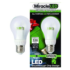 Miracle LED 605063 6-Watt A19 Un-Edison Specialty Light, Green, Omnidirectional, LED Bulb by...