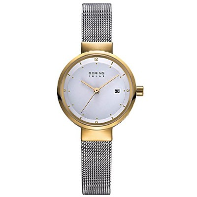 ba12f34dcb Bering Time 14426 – 010レディースSolar Collection Watch with Mesh Band and  scratch resistantサファイア
