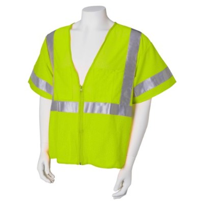 Jackson Safety ANSI Class 3 Deluxe Style Polyester Safety Vest with Lime Prismatic by Jackson Safety