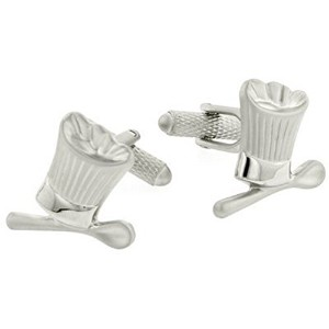 Chefs Hat and Spoon Cufflinks Withプレゼンテーションボックス