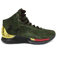 UNDER ARMOUR(アンダーアーマー) SC30/カリー30 カリー 1 ラックス ミッド スウェード CURRY 1 LUX MID SUEDE 1296617-330 (グリーン) -...