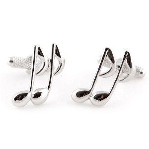 Music Note Cufflinks by Jewelry Mountain