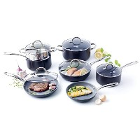 GreenPan Lima 3D I Love Cooking Ceramic Non-Stick 12 Piece Set, Grey by The Cookware Company