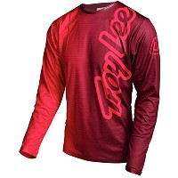 Troy Lee Designs Sprint Jersey – Long Sleeve – Men 's 50 / 50レッド、S