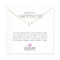 Dogeared Pearls of Happiness Necklace , Gold Dipped