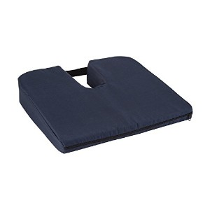 Sloping Coccyx Cushion, Navy 海外直送