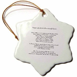 3drose PS Inspirations – Prayer of St。Francis of Assisi – Spirituality – Religion – Ornaments 3...