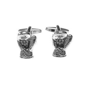 Silver Toned Shiny Boxing Glove Cufflinks